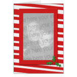 Candy Cane Photo Greeting Card