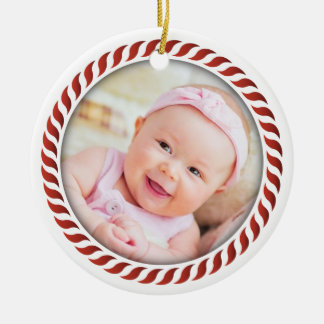 Candy Cane Photo Ornament