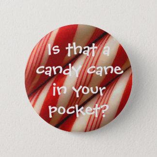 Candy Cane Pinback Button