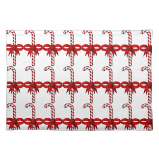 candy cane place mat