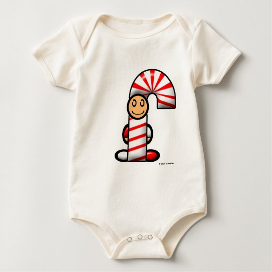 Candy Cane (plain) Baby Bodysuit