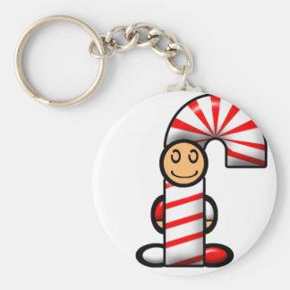 Candy Cane (plain) Keychain