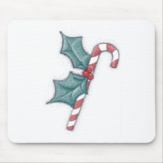 Candy Cane Pointillism Mouse Pad