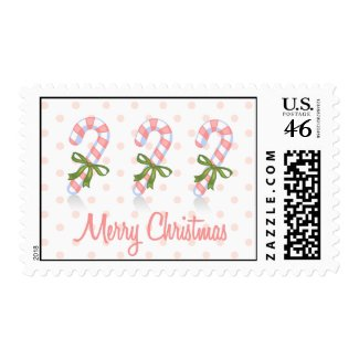 Candy Cane Postage stamp