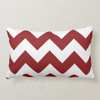 Candy Cane red and White Chevron lumbar pillow