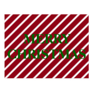 Candy Cane Red and White Stripe Personalized Postcard