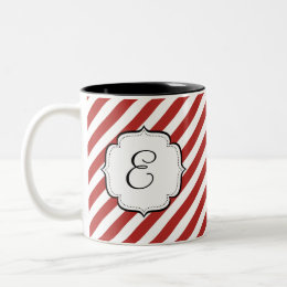 Candy Cane Red and White Striped Tea Coffee Mug