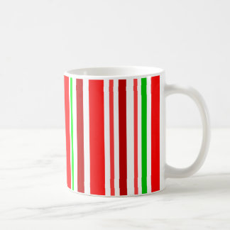 Candy Cane Red Green White Stripes Cheerful Coffee Mug