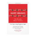 Candy Cane Red Holiday Candy Wrappers Flyers