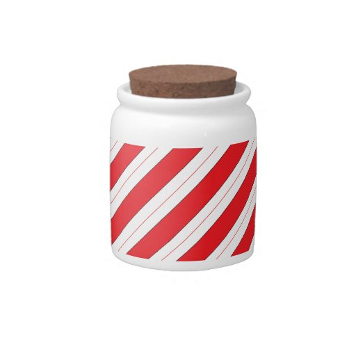 Candy Cane Red Stripes Candy Dishes