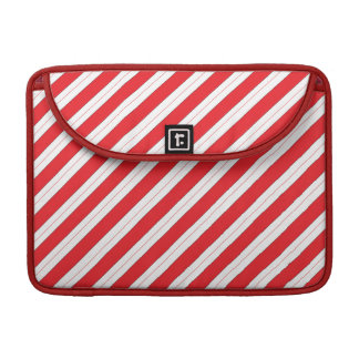 Candy Cane Red Stripes MacBook Pro Sleeve