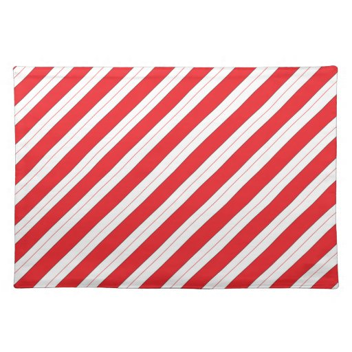 Candy Cane Red Stripes Place Mats Zazzle