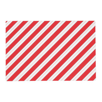 Candy Cane Red Stripes Placemat
