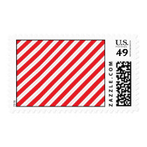 Candy Cane Red Stripes Postage
