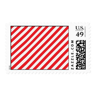 Candy Cane Red Stripes Postage Stamp