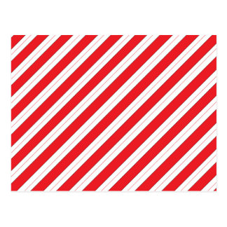 Candy Cane Red Stripes Postcard