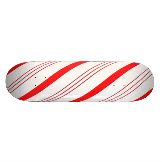 Candy Cane Red White Skateboard Deck