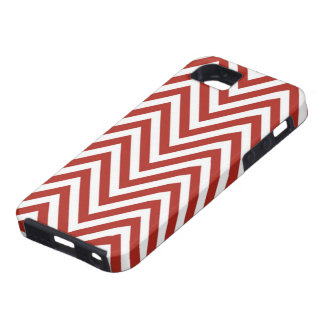 Candy Cane Red Zig Zag iPhone SE/5/5s Case
