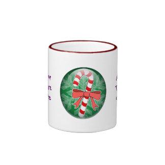 Candy Cane Ringer Coffee Mug