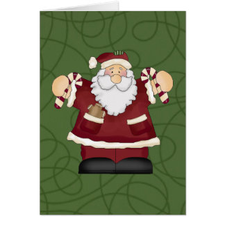 Candy Cane Santa Card