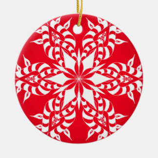 Candy Cane Snowflake - Christmas Ornament