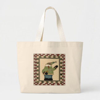 Candy Cane Snowmen Tote Bags