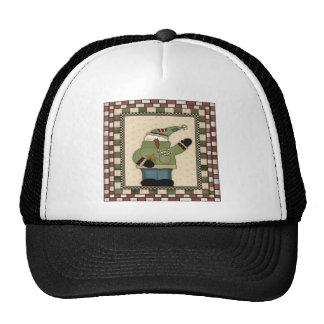 Candy Cane Snowmen Trucker Hat