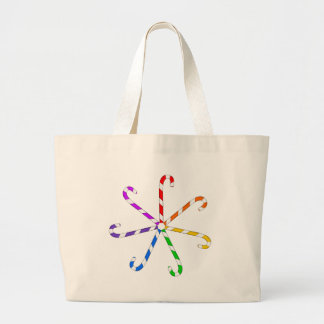 Candy Cane Spiral Canvas Bag