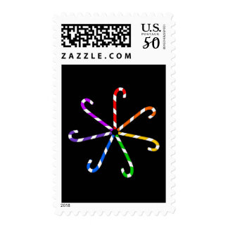 Candy Cane Spiral Postage