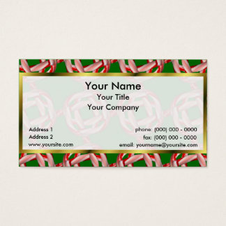 Candy Cane Square Lattice Sm Any Color Business Ca Business Card