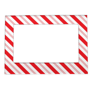Candy Cane Stripe Christmas Fridge Frame Magnet
