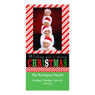 Candy Cane Stripe Christmas Photo Card
