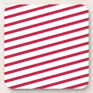 candy cane stripe coaster