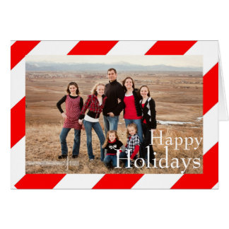 Candy Cane Stripe Holiday Photo Card