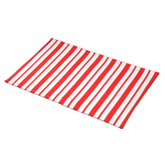 """Candy Cane Stripe"" Holiday Placemat"