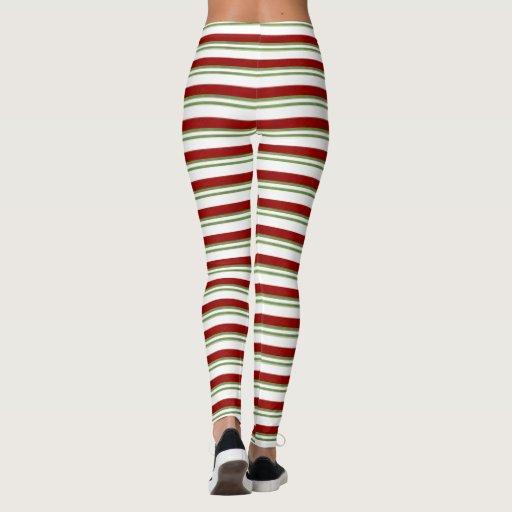 Candy Cane Stripe Leggings