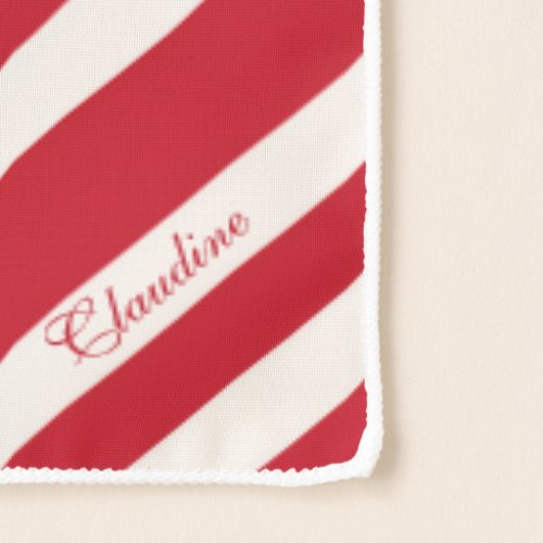 Candy Cane Stripe Long Chiffon Scarf