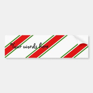 Candy cane stripe pattern bumper stickers