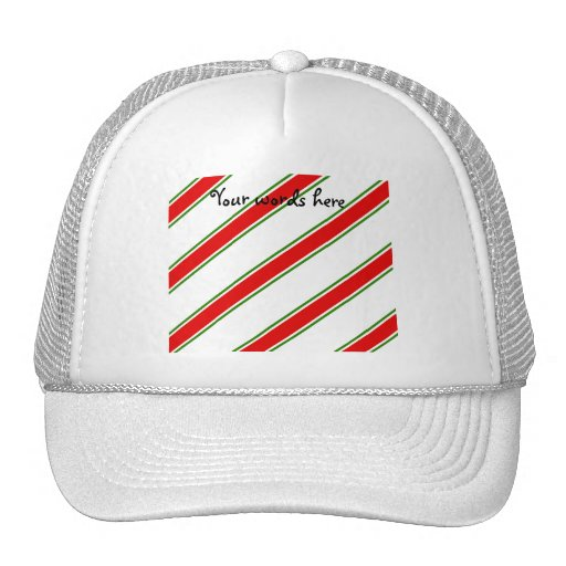 Candy cane stripe pattern trucker hat