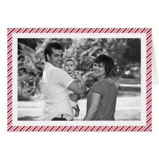 Candy Cane Stripe Photo Greeting Card