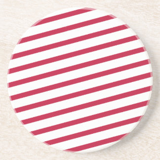 candy cane stripe sandstone coaster