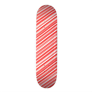 Candy Cane Striped Christmas sk8 4Jim Skateboard Deck