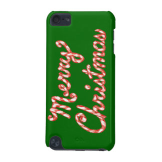 Candy Cane Striped Merry Christmas iPod Touch (5th Generation) Covers