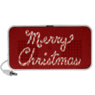 Candy Cane Striped Merry Christmas Travel Speaker