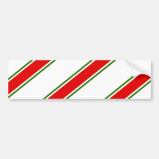 Candy cane striped pattern bumper sticker