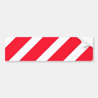 Candy Cane Stripes Car Bumper Sticker