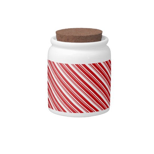 Candy Cane Stripes Candy Dish