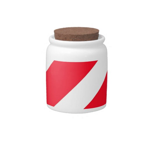 Candy Cane Stripes Candy Jar