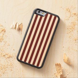 Candy Cane Stripes Carved® Maple iPhone 6 Bumper Case