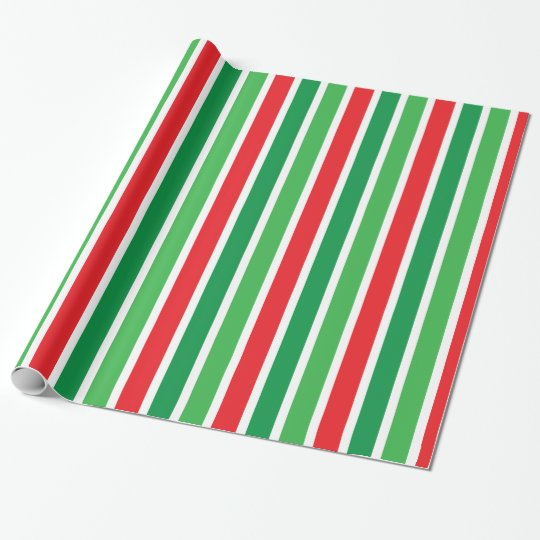 candy cane stripes christmas wrapping paper zazzle com